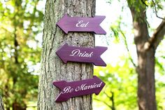 "Wedding sign idea, ""Eat, Drink, Be Married"" Plum wedding"