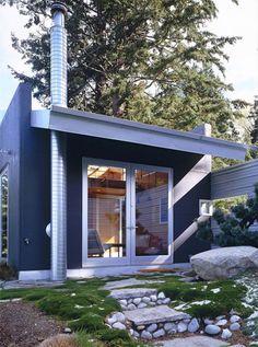 v c architect c3 tiny cabin camano 006   C 3 Cabin (And Plans) 480 Sq. Ft. Modern Loft Tiny Home