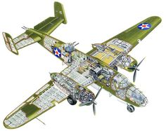 B-25 Cutaway Illustration