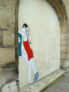 Artist Claire Street art ...Paris