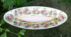 50.00 Love Story Porcelain Relish Dish Arnart/NC West Germany Fragonard Decals