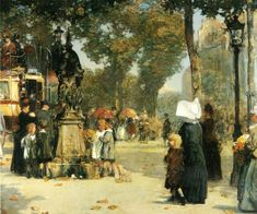 Paris Street Scene | Frederick Childe Hassam | oil painting