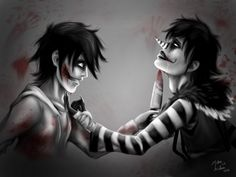 Creepypasta - LJ x Jeff the killer (YAOI) by MalouNielsen.deviantart.com on @DeviantArt