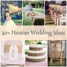 40 hessian wedding ideas copy