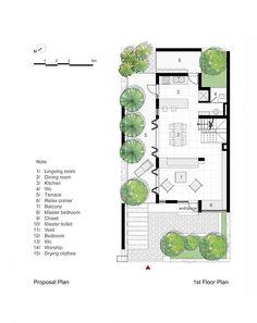 EPV House / AHL architects associates _ ground floor plan