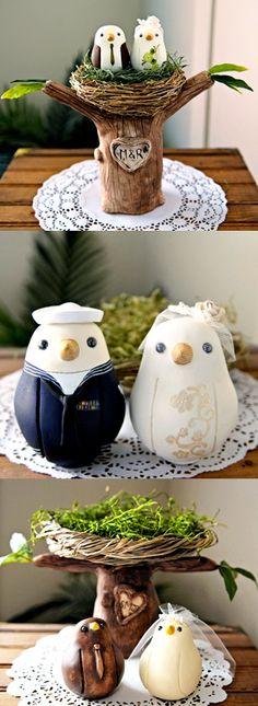 birdie cake toppers