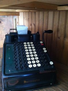 Antique Burroughs Vintage Adding Machine   by TwentyFourCarrots, $75.00