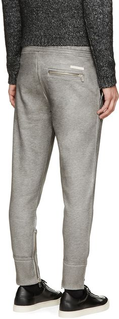 Diesel Black Gold Grey Coated Pokoyoco Lounge Pants