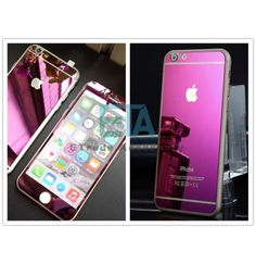 FRONT BACK PURPLE COLOR MIRROR TEMPERED GLASS SCREEN PROTECTOR FOR IPHONE 6 & 6 PLUS & 5S $11.95 http://www.etradeaccessory.com/tempered-glass/iphone-tempered-glass/front-back-purple-color-mirror-tempered-glass-screen-protector-iphone-6-6-plus-5s-2154.html