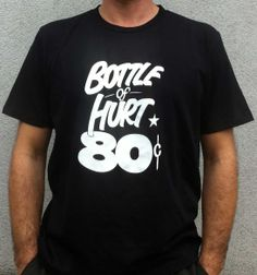 Bottle of Hurt - Black New T, Bottle, Colors, Mens Tops, T Shirt, Black, Fashion, Tee, Moda