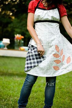 Image of the Sew Liberated Emmeline Apron sewing pattern for women.  This link is for buying the pattern, but I think it could be easy enough to figure out something similar.