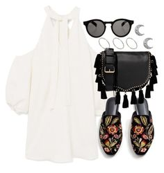 """""""Untitled #4154"""" by theeuropeancloset ❤ liked on Polyvore featuring MANGO, Rebecca Minkoff, Illesteva and ASOS"""