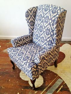 blue wingback chair. Wing Back Chairs (A Country Farmhouse) | Pinterest Green Furniture, Farmhouse And Shop Blue Wingback Chair A