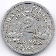 France 2 Francs 1943 Veiling in de Frankrijk,Europa (niet of voor €),Munten,Munten & Banknota's Categorie op eBid België