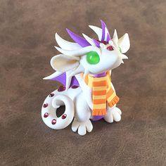 White Scarf Dragon by DragonsAndBeasties on Etsy