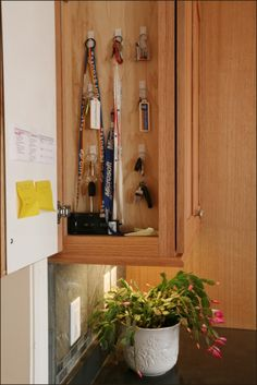 Who needs a key bowl or basket, when you have a key cupboard?