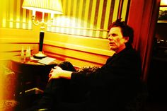 John Taylor sitting for interviews in Italy
