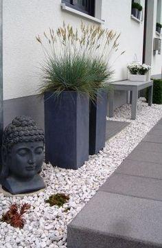 Bildergebnis für gartengestaltung kies buddha