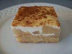 Sour Cream Apple Slice Recipe Apple Sour Cream Slice Apple Recipes Tea Recipes