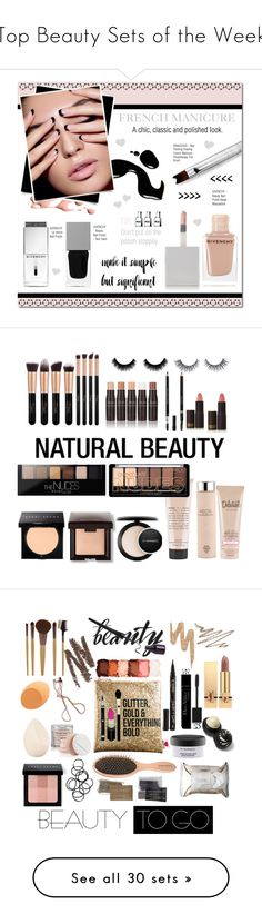 """""""Top Beauty Sets of the Week"""" by polyvore ❤ liked on Polyvore featuring beauty, Givenchy, DIVA, nailart, frenchmanicure, Bobbi Brown Cosmetics, Laura Mercier, MAC Cosmetics, AEOS and Be Delectable"""