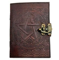 rebelsmarket_pentacle_brown_leather_7_inch_journal_with_latch__journals_and_notebooks_2.jpg