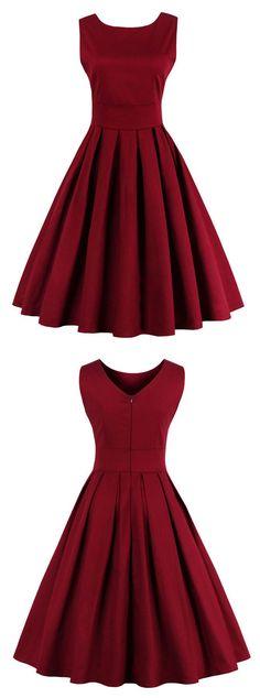 50s vintage dress vintage dress burgundy vintage dress