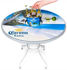 Are you a beer aficionado? Maybe you're into IPAs, maybe you're all about the light beers, maybe it comes down to a toss up between Bud Light and Corona. Either way, here's how you can display your beer love on a table top! Clicking the image can help you learn more and get started.
