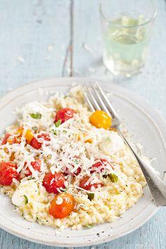 Risoto de tomate e mozzarela
