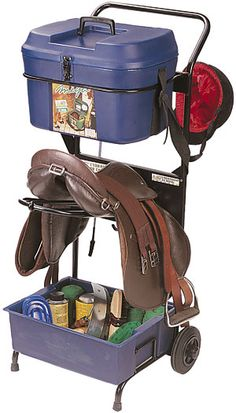 Saddle and tack trolley