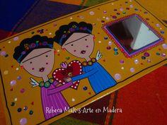 """https://flic.kr/p/o4z8mX   Las 2 Fridas   """"Frida Kahlo"""" """"Rebeca Maltos"""" arte acrylics painting  homework artwork"""