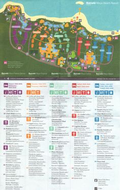 Barcelo Maya Beach Resort Map - You get this map at check-in. Use the free shuttle on grounds for a tour early in your stay.