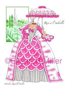 Marie Antoinette French Court Paper Doll by PaperDollsbyERMiller