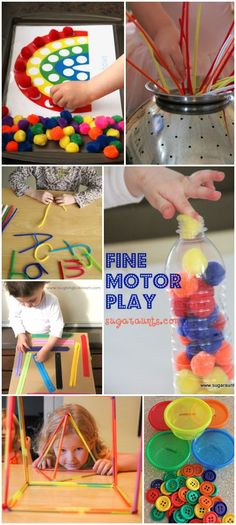35 simple  engaging fine motor activities for kids; lots of fun ideas that can be set up in seconds!