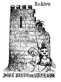 Ex Libris de José Pinto de Rezende Ex Libris, Medieval, Rook, Mid Century