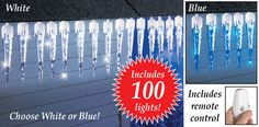 Outdoor Remote Control Icicle String Lights