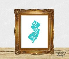 Instant  New Jersey State Home Sweet Home by mylovenotedesigns