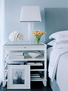 nightstand with shelving