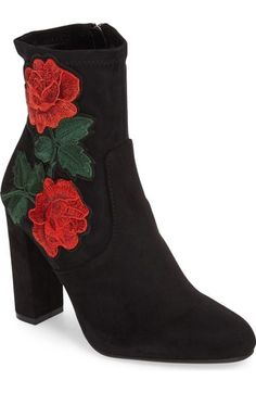 STEVE MADDEN Edition Embroidered Bootie Black Suede $99 Pick Up or Ships Free http://rain-rossi.mybigcommerce.com/steve-madden-edition-embroidered-bootie-black-suede-99-pick-up-or-ships-free/