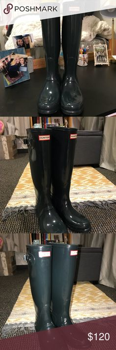 Hunter Rain Boots size 9. Worn once! Super cute I just dont need them!! Hunter Boots Shoes Winter & Rain Boots