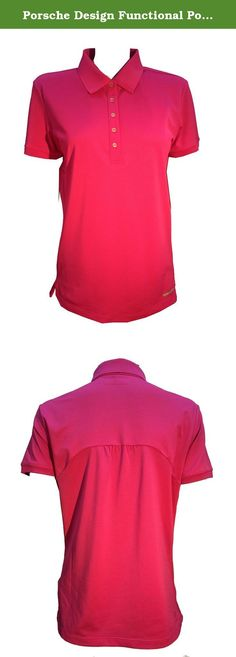 Porsche Design Functional Polo Shirt (32, Pink). Short-sleeve golf polo with back detailing. Made in collaboration with Adidas.