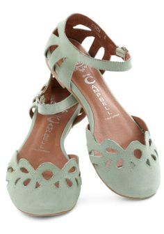 Adorable mint flats!