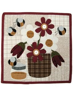 Applique Wall Hanging Patterns - Honey Bee Quilt Pattern - June