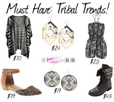 Must Have Tribal Trends: http://myfashionobsessedlookbook.com/must-tribal-trends/