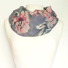 Floral Print Infinity Scarf | Lemon Drop Boutique