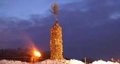 """Костер-небоскреб.  Юлия Шлапси (сообщение-анонс):  В субботу 21.03.2015 в Вене будут провожать зиму давним обычаем земли Форальберг. На горе Каленберг подпалят огромный костёр. И, говоря огромный, я не преувеличиваю. Высота деревянной конструкции 14 метров! Внутрь закладывают еловые ветки, которые, горя ,стреляют искрами. Отсюда и название традиции : """"Праздник искр"""" (на нем. Funkenfest). Candles, Candy, Candle Sticks, Candle"""