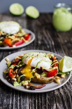 Breakfast Friday: Tex-Mex Eggs Benedict with Grilled Potato Slabs + Avocado Lime Hollandaise — Edible Perspective Egg Recipes, Potato Recipes, Brunch Recipes, Cooking Recipes, Healthy Recipes, Meatless Recipes, Grilling Recipes, Healthy Meals, Healthy Food