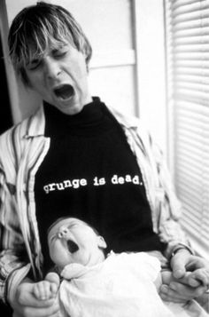 Kurt and Frances Bean Cobain