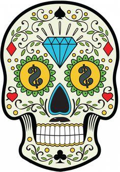 Sticker Calavera - Tete De Mort Mexicaine 13 - ref.d7451 | MPA Déco