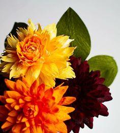 bouquet fait avec des fleurs en twistart. | fabrication de fleur