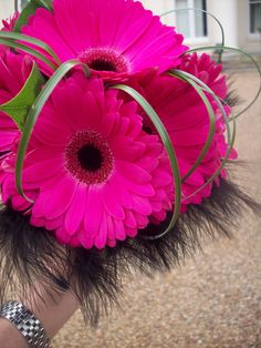 Hot Pink And Black Bouquets - Bing Images